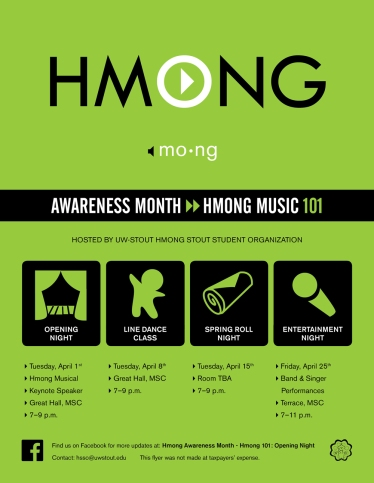 Hmong Awareness Month Poster